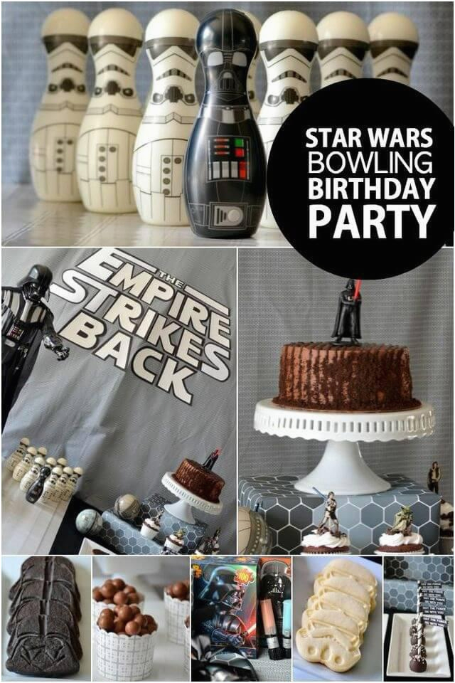 the empire strikes back a boys star wars bowling birthday party
