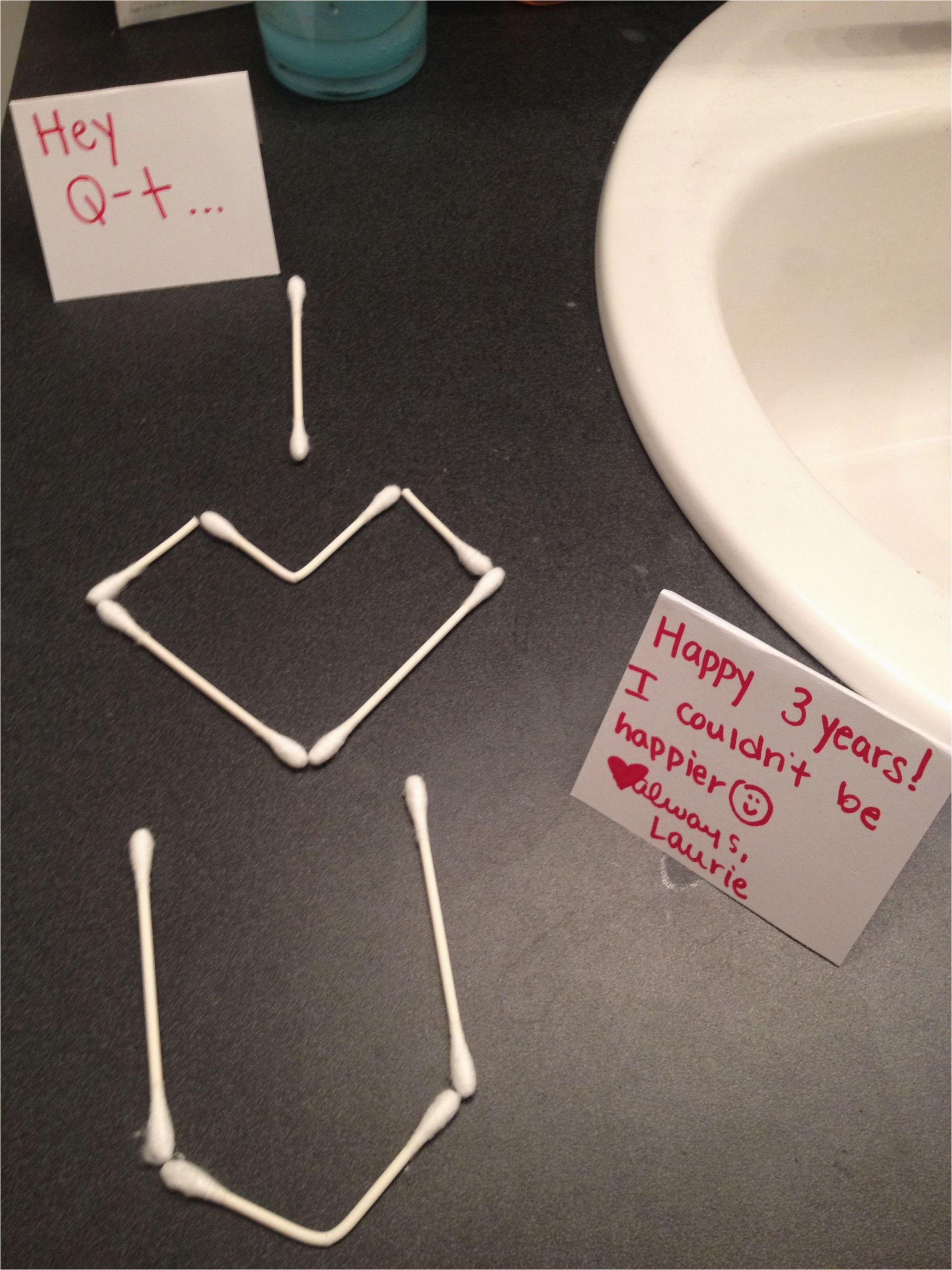 Sweet Birthday Gifts for Husband I Left This In the Bathroom the Night before Our
