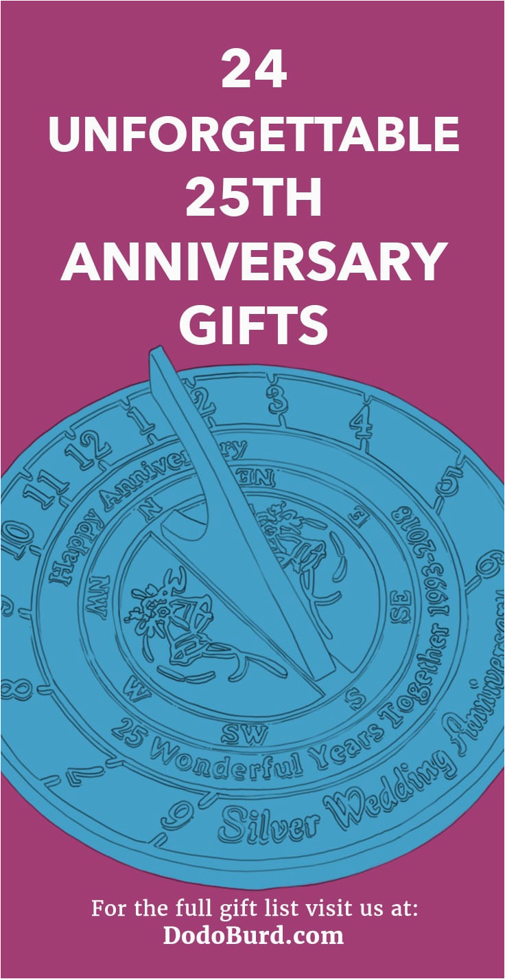 25th anniversary gifts