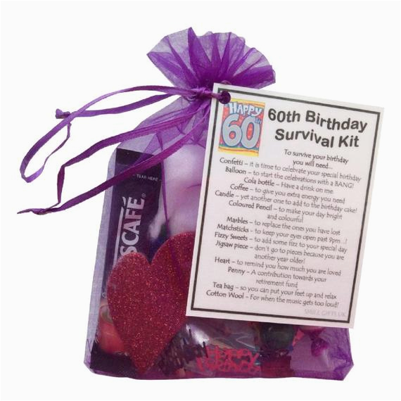 60th birthday survival kit 60th gift