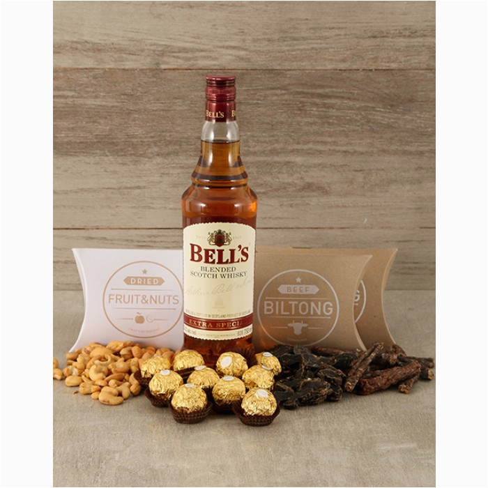 Unique Birthday Gifts for Him south Africa Whiskey Nuts Biltong Chocolate Hamper for whom the