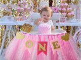 1 Year Baby Birthday Decoration Baby First Birthday Blue Pink Chair Banner One Year 1st