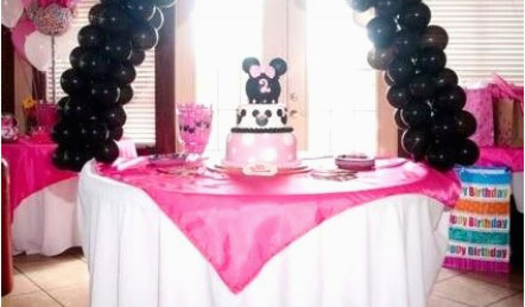 1 Year Baby Birthday Decoration Minnie Mouse Party Ideas