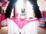 1 Year Baby Birthday Decoration Minnie Mouse Birthday Party Ideas Pink Lover