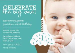 1 Year Old Birthday Invitation Card Sample Baby Boy First Invitations Free