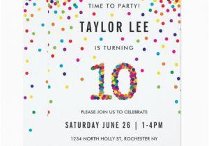 10 Year Old Boy Birthday Invitations Rainbow Party 10th