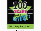 100 Birthday Invitation Cards 100 Year Old Birthday 5 Quot X 7 Quot Invitation Card Zazzle