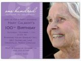 100 Birthday Invitation Cards Lavender Circle Photo 100th Birthday Invitations Paperstyle