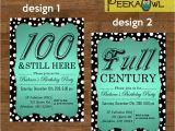100 Birthday Invitation Cards Printable Diy Dots 100th Birthday Invitation Card 100th