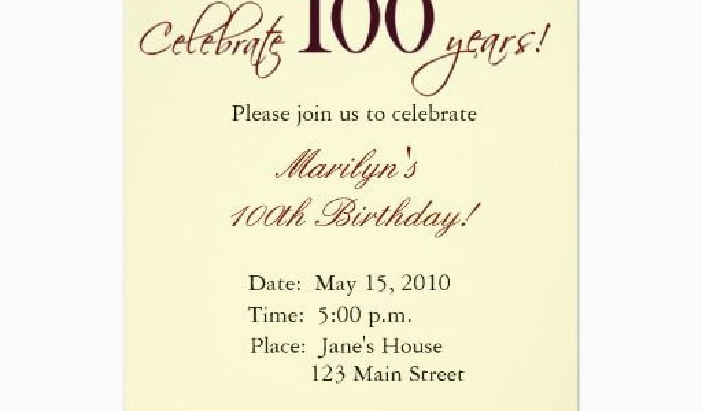 Download By SizeHandphone Tablet Desktop Original Size Back To 100 Birthday Invitation Wording