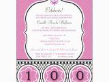100 Birthday Invitation Wording Celebrate Her Century 100th Birthday Invitations Paperstyle