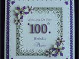 100th Birthday Card Ideas 100th Birthday Card Mum Nan Dad Grandad Etc All Colours