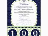 100th Birthday Invitation Wording Celebrate His Century 100th Birthday Invitations Paperstyle