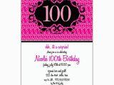100th Birthday Invitation Wording Milestone 100th Pink Floral Birthday Invitations Paperstyle