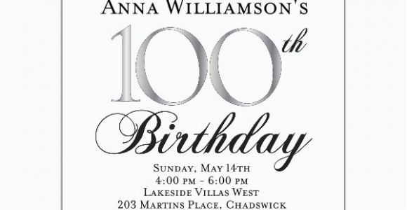 100th Birthday Invitations Ideas 100th Birthday Invitation Wording First Birthday Invitations