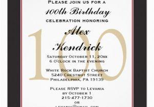 100th Birthday Invitations Ideas Centennial Invitation Zazzle