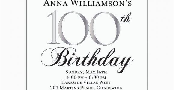 100th Birthday Party Invitation Wording 100th Birthday Invitation Wording First Birthday Invitations