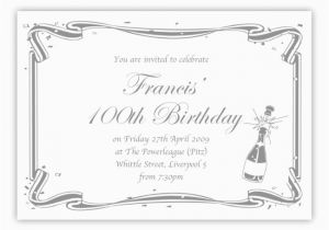 100th Birthday Party Invitation Wording Invitations A Cake
