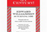 100th Birthday Party Invitation Wording Celebration Of A Century 100th Invitations Paperstyle