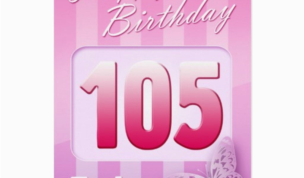 105th Birthday Card Happy Grand Mother Great Aunt Mom