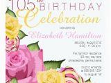105th Birthday Card Pink Yellow Floral 105th Birthday Celebration Card Zazzle