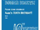 10th Birthday Party Invitation Wording Ideas 10th Birthday Party Invitation Wording Cimvitation