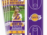 12 Los Angeles Lakers Birthday Ticket Invitations Invitations 12 Los Angeles Lakers Custom Birthday Party Ticket Invitations