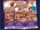 12 Los Angeles Lakers Birthday Ticket Invitations Invitations 17 Best Images About Basketball Tickets Invitation On