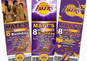 12 Los Angeles Lakers Birthday Ticket Invitations Invitations 17 Best Images About Lakers Party On Pinterest