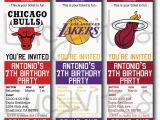 12 Los Angeles Lakers Birthday Ticket Invitations Invitations Free Printable Ticket Stub Invitation