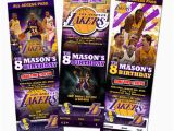 12 Los Angeles Lakers Birthday Ticket Invitations Invitations La Lakers Birthday Party Invitation Ticket Custom Card Los