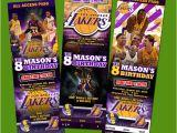 12 Los Angeles Lakers Birthday Ticket Invitations Invitations La Lakers Birthday Party Invitation Ticket Custom Card