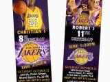 12 Los Angeles Lakers Birthday Ticket Invitations Invitations Los Angeles La Lakers Ticket Birthday Party Invitations