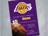 12 Los Angeles Lakers Birthday Ticket Invitations Invitations Los Angeles Lakers Digital Birthday Invitation by Meghansview