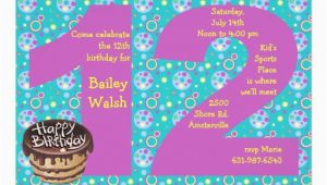 12 Year Old Birthday Party Invitations 12 Year Old Birthday Invitations for Girls
