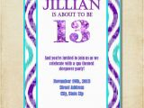 12 Year Old Birthday Party Invitations Birthday Invitation for 12 Year Old Girls