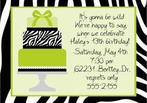 12 Year Old Birthday Party Invitations Printable For Girls