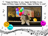 123 Singing Birthday Cards Singing Birthday Bear Free Smile Ecards Greeting Cards