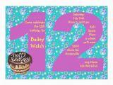 12th Birthday Invitation Wording Big 12 Birthday Party Invitation 5 Quot X 7 Quot Invitation Card