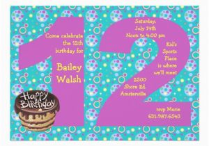 12th Birthday Invitation Wording Big 12 Party 5 Quot X 7 Card