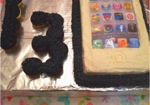 13 Year Old Birthday Party Decorations iPhone Techie Birthday Cake for A 13 Year Old Party