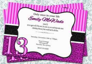 13 Year Old Birthday Party Invitations 13 Year Old Birthday Party Invitations Lijicinu