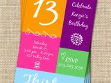 13 Year Old Birthday Party Invitations 13th Birthday Invitations Free Invitation Ideas
