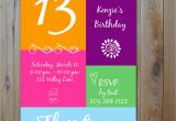 13 Year Old Birthday Party Invitations 13th Birthday Party Invitation Ideas Bagvania Free
