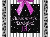 13 Year Old Birthday Party Invitations 13th Birthday Party Invitations 13th Birthday Parties