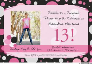 13 Year Old Birthday Party Invitations Best Photos Of 13th Invitation Templates