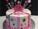 13th Birthday Cake Decorations 13th Birthday Cake with Stars Stripes and Polka Dots
