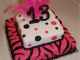 13th Birthday Cake Decorations 13th Birthday Zebra Polka Dot Cake It 39 S My Party and I
