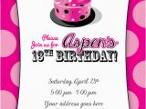 13th Birthday Card Template 7 Best Images Of Free Printable 13th Birthday Invitations
