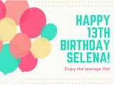 13th Birthday Card Template Customize 884 Birthday Card Templates Online Canva